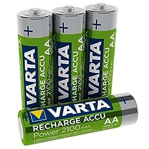 Varta Rechargeable Accu Ready2Use vorgeladener AA Mignon Ni-Mh Akku 4er Pack 2100 mAh - wiederaufladbar ohne Memory-Effekt - sofort einsatzbereit (Design kann abweichen)