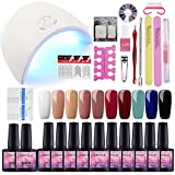 Saint-Acior Gel Nail Polish Starter Kit 36W Lamp Led Nail Dryer 10 Colors