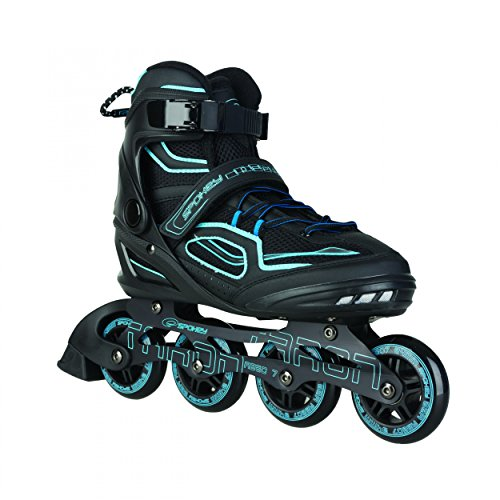 SPOKEY® TARON Inline Skates | Kinder | Damen | Herren | Inline Blades | ABEC 7 Karbon | Aluminium | Größen 37-46, Farben:Blue;Größe/Size:45
