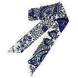 Dorical Damen Retro Vintage Handtasche Seidenband Seidentuch Haarband Stirnbänder Stirnband Headwear,Kleine Ribbon Schal Pure Griff Original Manual Ribbon Tasche Gebunden Zubehör für Frauen(Z)