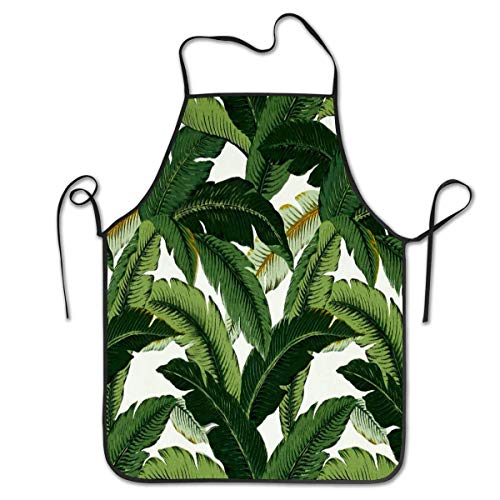 Bier Kann Kostüm Hunde - HTETRERW Fashion Cooking Apron, Banana Leaves, Fixed Neck Strap Waist Bib for Restaurant Home Kitchen, Waterproof Men Women Chef Apron for Kitchen, Crafting, BBQ, Drawing