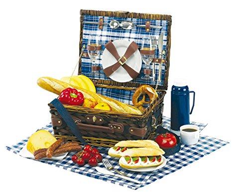 Picknickkorb Kaufen Picknickkorb 2 Personen Picknick Set mit Picknickgeschirr Picknickkoffer Porzellanteller plus Gläser aus Glas