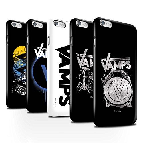 Officiel The Vamps Coque / Clipser Brillant Etui pour Apple iPhone 6S / Blanc/Noir Design / The Vamps Graffiti Logo Groupe Collection Pack 6pcs