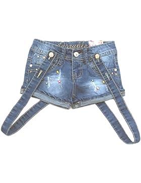 süße Mädchen Shorts Jeansshorts mit Trägern, M5301e