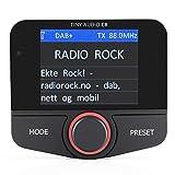 Tiny Audio C8 – FM Transmitter Auto (DAB+ Radio Adapter mit Radio-Antenne, Bluetooth Streaming und Freisprech-Funktion, AUX Anschluss für externe Geräte), schwarz