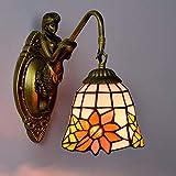 LL Wall Lamp Garden Creative Retro Art Glass for Bedroom Bedside Bar Living Room Diningroom Lighting,onehead,26x15cm