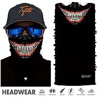 TEFITI Face Bandana Mask Elastic Tube Magic Scarf Multifunctional Headbands with UV Resistance for Men Women Suitable for Running, Riding, Climbing, Yoga,Hiking