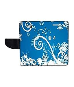 KolorEdge Printed Flip Cover For HTC Desire 616 Multicolor -(50KeMLogo12188HTC616)