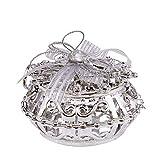 QILICZ 6stk Geschenkbox Gastgeschenk Geschenktüten Bonboniere Geschenk Bonbons Box Gift Kästchen Schokolade Süßigkeiten Verpackung für Hochzeit Party Geburtstag Babytaufen