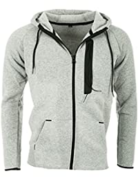 Sweat zippé Cabaneli N04 gris