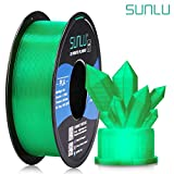 SUNLU Transparent PLA Filament 1.75 mm 3D Printer Filament, 1kg Spool 3D Printing Filament, Dimensional Accuracy +/- 0.02 mm for 3D Printer and 3D Pen (Transparent Green)