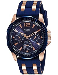 amazon co uk guess watches guess men s quartz watch black dial analogue display and multicolour silicone