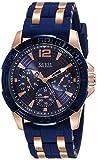 Guess W0366G4 - Reloj de pulsera para hombre, color blanco / plata