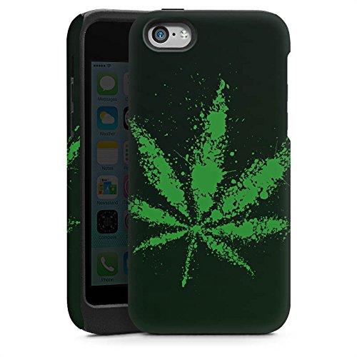 Apple iPhone 4 Housse Étui Silicone Coque Protection Feuille Herbe Chanvre Cas Tough brillant