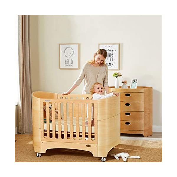 DUWEN-Cot bed Solid Wood Multifunction European Baby Cot Toddler Bed Game Bed Sofa Bed DUWEN-Cot bed 1. Simple and exquisite crib not only allows the baby to have a better sleep experience, but also cultivates the baby's independent consciousness and exercises the baby's hand and foot coordination ability, which is the best gift for the baby. 2. The crib is made of environmentally friendly pine wood, which is sturdy and durable, not easy to crack and deform, and has a carrying capacity of more than 80KG, so that the baby has a healthy sleep. 3. The crib is safe, environmentally friendly, non-irritating and harmless to the baby. It is the best choice for the mother. 1