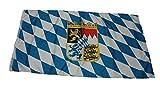 Bandiera Baviera con stemma Bandiera 150 x 90 cm