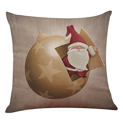 Weihnachten Weihnachtsgroßvater Kissenbezug Sofa Home Decor KissenhüLle Dekorative Dekokissen Lendenkissen Wurfkissenbezug Packungen Kissen KissenbezüGe Sofakissen Wohnzimmer(G)
