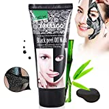 Black Mask, Mascarillas exfoliantes y limpiadoras, Máscara Negra,Peel Off Máscara Tearing Style Deep Cleansing Purifying Blackheads y Acné Peel-off Máscara,black Mud Face Mask Peel Off Máscara/Acné Máscara/Máscara Limpieza/ (60ml)