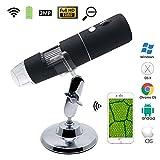 Teepao Tragbare WLAN-USB Digital Mikroskop 1000x mit 2MP und 1080p Objektiv, Handheld Mikroskop Wireless Vergrößerung Endoskop-Kamera für iOS/Android Phone/Windows/Mac, Foto & Video erhältlich