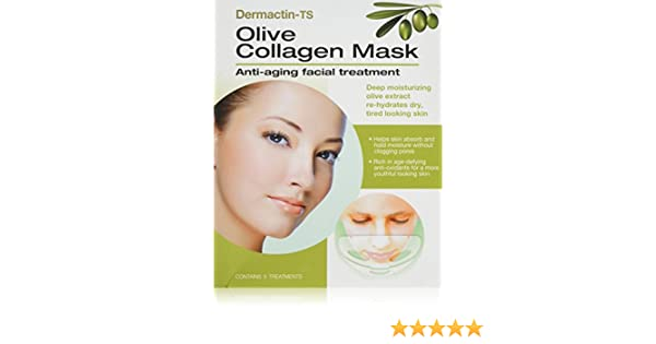 Dermactin-TS Olive Collagen Mask - 5 Masks Osmosis Quench (Light Moisturizer) 120ml 4oz Pro