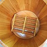 Vasca da bagno a pedale Vasca per pediluvio Vasca idromassaggio per il bagno al pediluvio naturale in legno naturale per alleviare l'affaticamento Vasca da bagno (Size : 24CM)