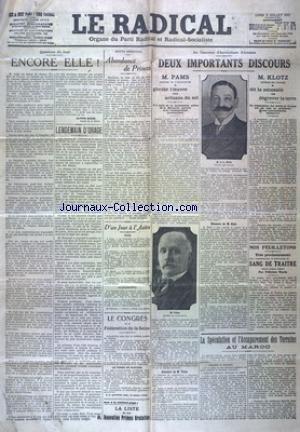 RADICAL (LE) du 08/07/1912