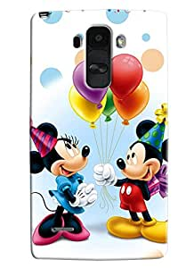 Blue Throat Micky And Mini Mouse Celebrating Printed Designer Back Cover For LG G4 Stylus