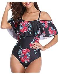 f088b02427 LMMET Costume da Bagno Donna Intero Sexy Brasiliana Costumi Interi Donna  Taglie Forti Estate Costume Intero