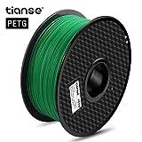 TIANSE Filamento de PETG para la impresora 3D / Pluma 3d, 1 kg 1,75 mm(Verde)