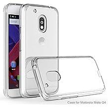 MOTO G4 / MOTO G4 Plus Funda, iBetter Silicona TPU +PC Funda Dura Ultra Fina Transparente Funda Cover Carcasa Para MOTO G 4th Generation / MOTO G 4th Generation Plus Smartphone, Transparent