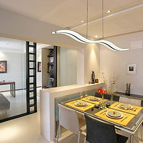 LightInTheBox Moderne Contemporain LED Chrome Lampes suspendues 98cm long plafond luminaire / pour le salon, la source lumineuse = blanc chaud, Voltage = 90-240V