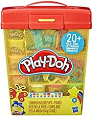 Play-Doh Large Tools and Storage Activity Set for Children Aged 3 Years and Up with 8 Non-Toxic Play-Doh Colou