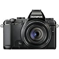 Olympus Stylus 1 Compact Digital Camera - Black (12MP, 10.7x i.Zuiko Optical Zoom) 3 inch Tiltable Touchscreen LCD