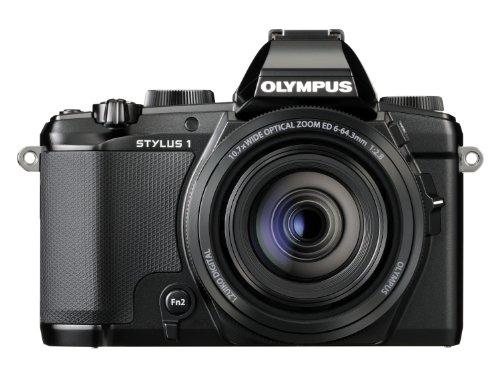 Olympus Stylus 1 Fotocamera 12 MP, Sensore BSI-CMOS, Display Touch 3 Pollici, Stabilizzazione dell'Immagine, Wi-Fi, Obbiettivo F2.8 28-300 mm, Nero