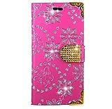 FoneExpert® Cubot Cheetah 2 Handy Tasche, Bling Luxus Diamant Wallet Case Flip Cover Hüllen Etui Hülle Ledertasche Lederhülle Schutzhülle Für Cubot Cheetah 2