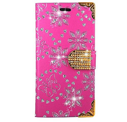 Samsung Galaxy A5 2017 Handy Tasche, FoneExpert® Bling Luxus Diamant Wallet Case Flip Cover Hüllen Etui Hülle Ledertasche Lederhülle Schutzhülle Für Samsung Galaxy A5 2017