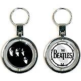 The Beatles - Spinner Metall Schlüsselanhänger - Band & Drum - Logo