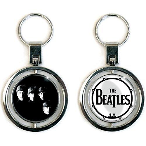 Cd / Dvd-spinner (The Beatles - Spinner Metall Schlüsselanhänger - Band & Drum - Logo)