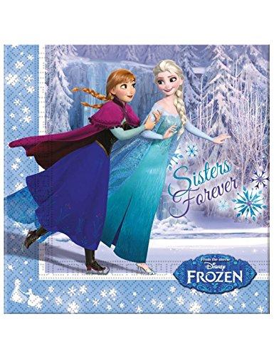 Frozen Eislaufen 2-lagige Papierservietten 33x33cm