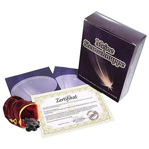 van Hoogen  Echte Sternschnuppe in Geschenkbox - inkl. 2 x personalisierbarem Sternschnuppenzertifikat mit romantischer Widmung