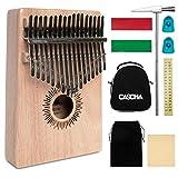 Cascha Kalimba, acajou piano avec 10 dents, accessoires, sac en tissu, sac de transport, chiffon de nettoyage, marteau d\'accordage, autocollant de partie. 17 Zungen