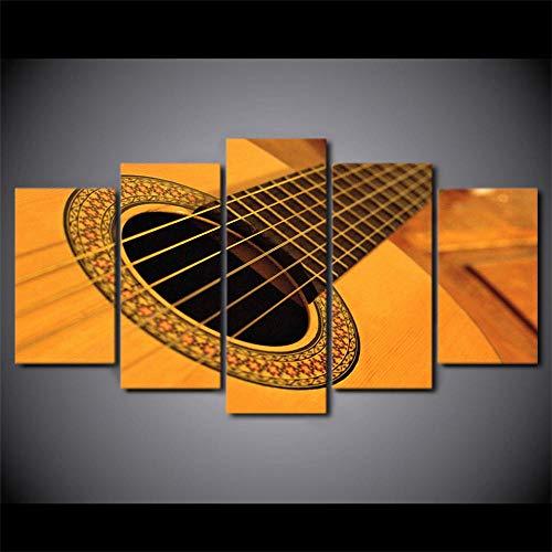 rkmaster-5 Pièces Vieux Guitare Folk String Affiche Affiche Peinture Murale Art Cadre Décoration Photo pour Salon HD Print