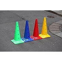 Set de 4 unidades de conos multifuncionales con agujero, 50 cm