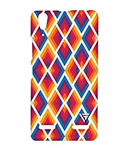 Vogueshell Colorful Pattern Printed Symmetry PRO Series Hard Back Case for Lenovo A6000