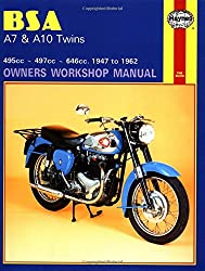 B. S. A. A7 and A10 Twins Owner's Workshop Manual (Motorcycle Manuals)