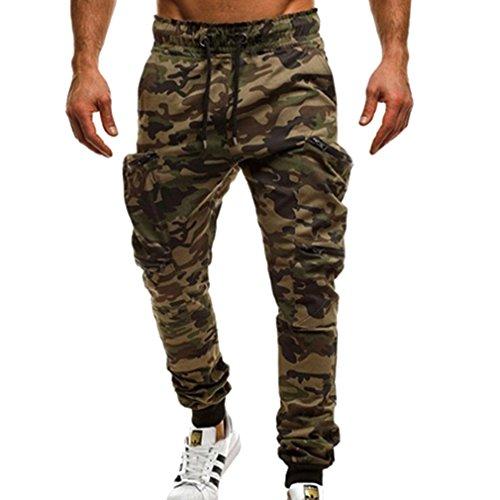 Hombre Deportivo Pantalones Fitness Jogging Running Pantalón Largos Moda Casual Pantalones (Caqui, Gris, Verde, Negro, Rojo, Verde Militar)