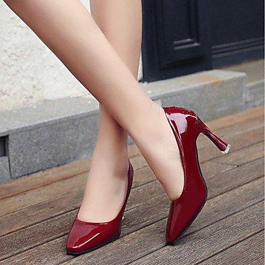 RTRY Donna Luce Tacchi Suole Cadere A Molla Pu Abbigliamento Casual Chunky Heel Ruby Silver Black 2A-2 3/4In US6.5-7 / EU37 / UK4.5-5 / CN37
