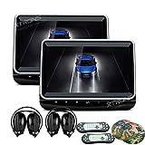 XTRONS® 25,7cm HD TFT Digital Bildschirm Touch Panel Auto Kopfstütze DVD Player 1080p Video HDMI Port