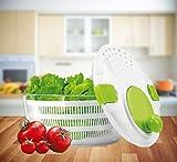db ELT Salatschleuder Grün mit Kurbel Salatzentrifuge Salatschlüssel Seiher Sieb