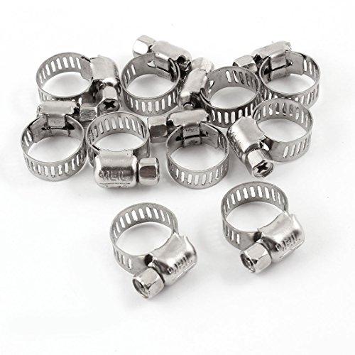 Stainless Steel Conduit (Uxcell Schlauchschellen aus Edelstahl, 6 mm bis 12 mm, 10 Stück)